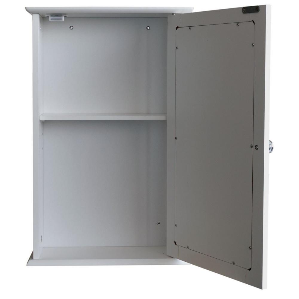 armoire en bois avec porte miroir en mdf blanc 53 x 34. Black Bedroom Furniture Sets. Home Design Ideas