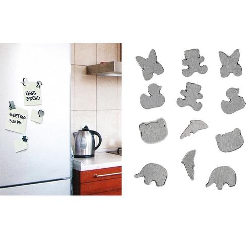 magnets frigo acier brosse par 12 maison fut e. Black Bedroom Furniture Sets. Home Design Ideas