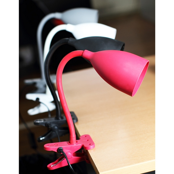 lampe flexible pince rouge maison fut e. Black Bedroom Furniture Sets. Home Design Ideas