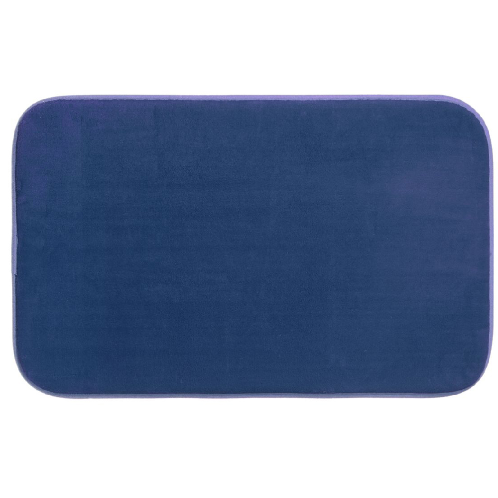 tapis de bain microfibre m moire de forme 80x50 cm bleu maison fut e. Black Bedroom Furniture Sets. Home Design Ideas