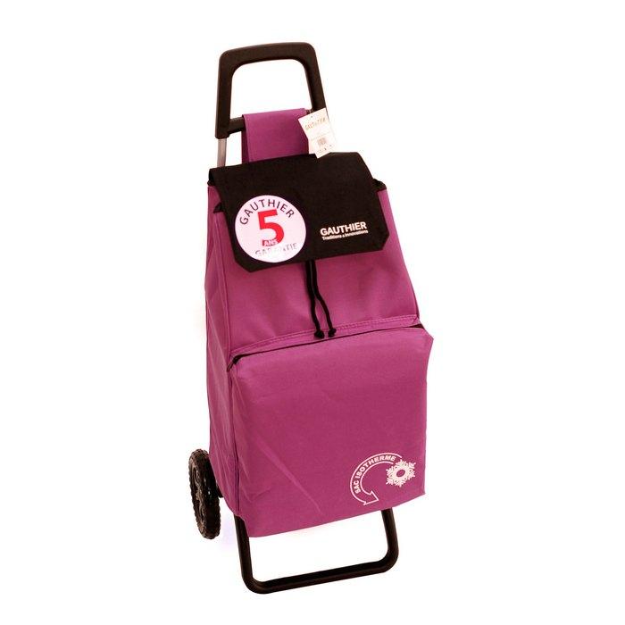 Chariot de courses 2 roues isotherme 42 litres rose - Chariot de course isotherme ...