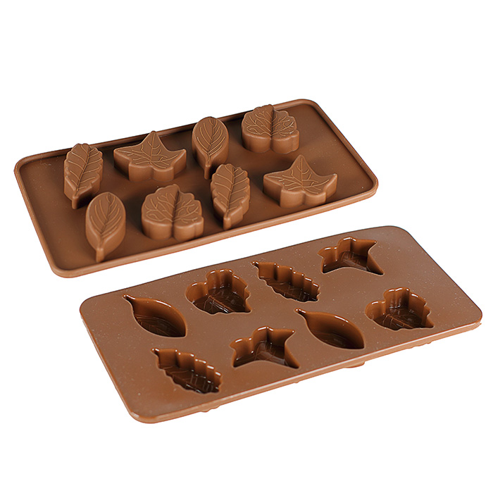 moule en silicone feuilles d 39 arbres pour bonbons en chocolat maison fut e. Black Bedroom Furniture Sets. Home Design Ideas