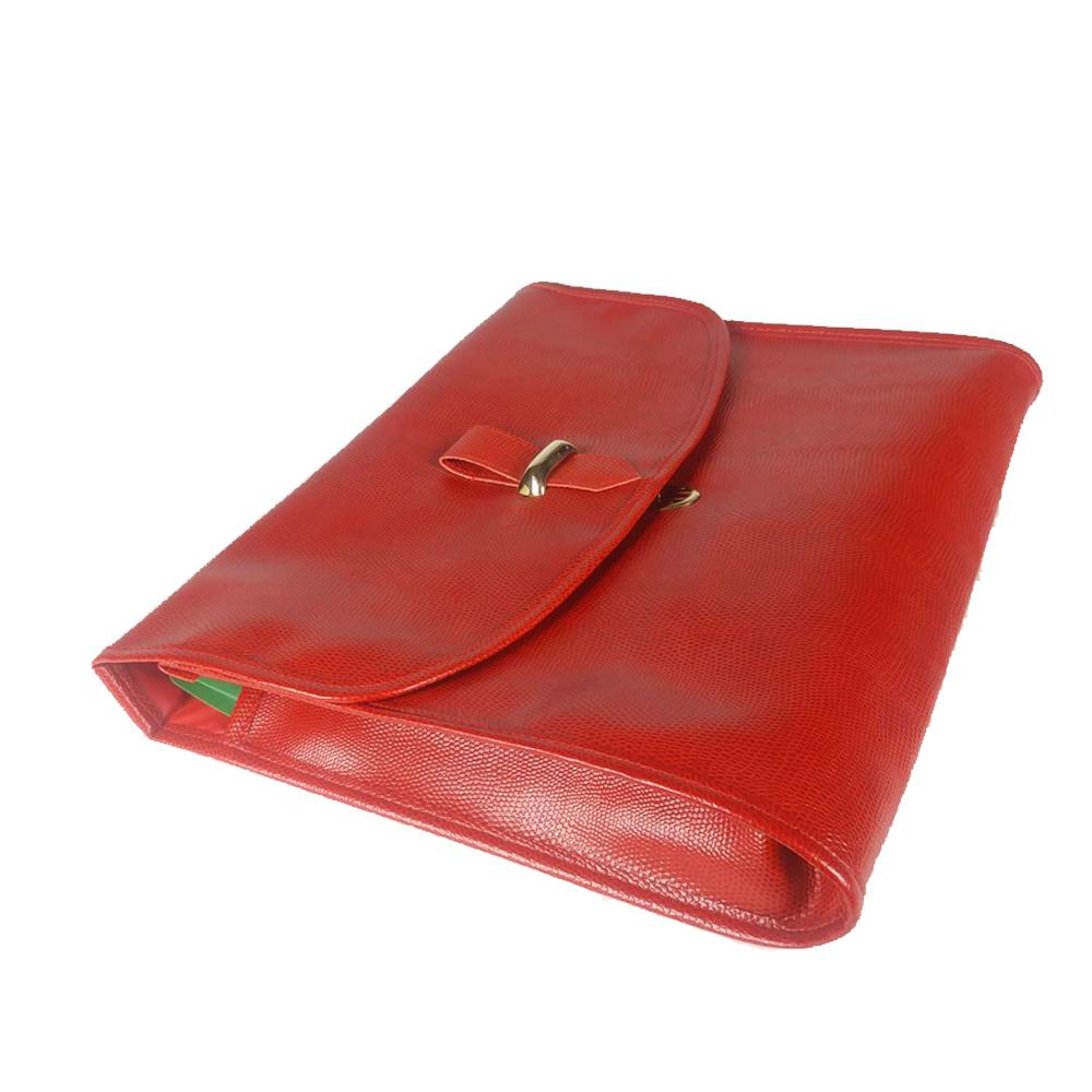 serviette porte documents simili cuir rouge maison fut e. Black Bedroom Furniture Sets. Home Design Ideas