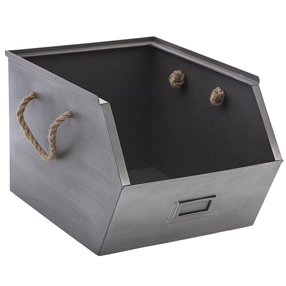 Casier De Rangement Metal Gris Maison Futee