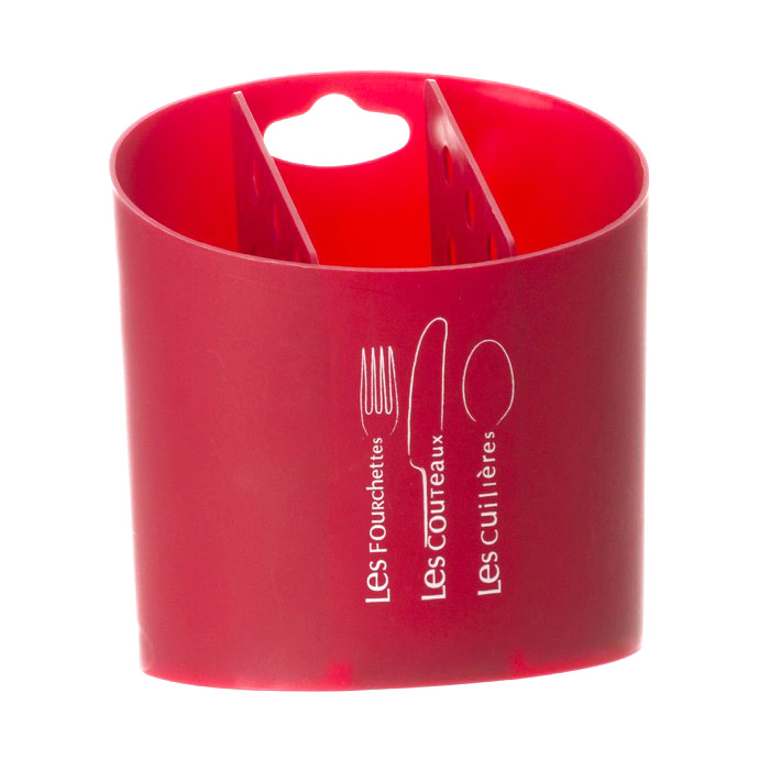 pot range couverts rouge