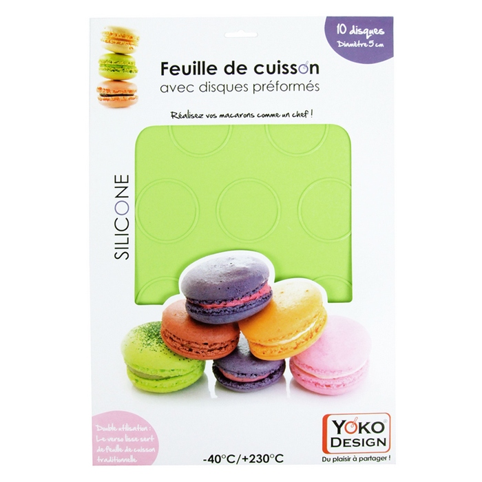 Plaque silicone 10 macarons
