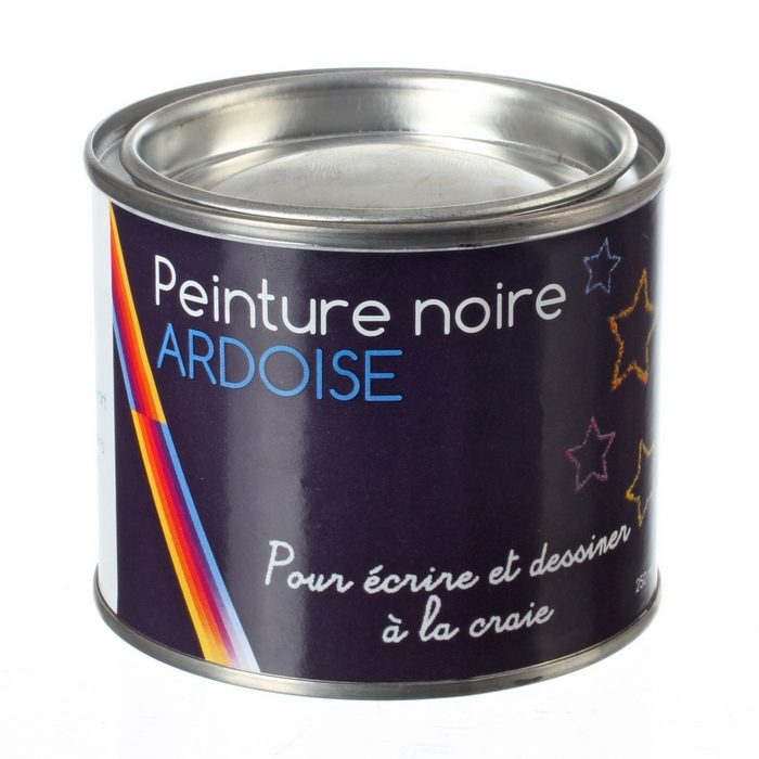 peinture noire ardoise en pot de 250 ml maison fut e. Black Bedroom Furniture Sets. Home Design Ideas