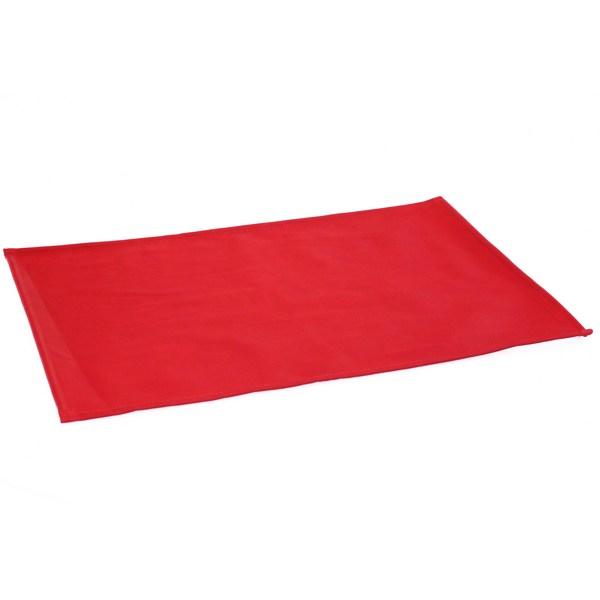 Set de table simili cuir 30x40 cm rouge maison fut e - Set de table rouge ...