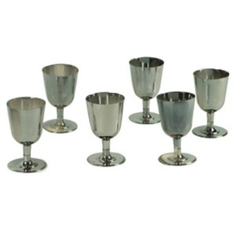 verres vin couleur argent lot de 12 maison fut e. Black Bedroom Furniture Sets. Home Design Ideas