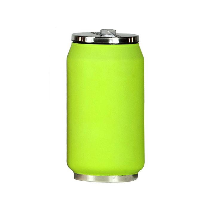 mug canette isotherme rubber 280 ml vert maison fut e. Black Bedroom Furniture Sets. Home Design Ideas