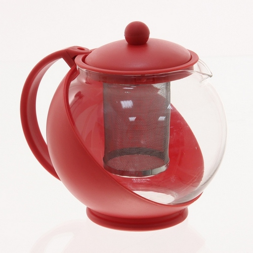 Th i re boule avec filtre amovible inox rouge maison fut e - Arbuste avec boule rouge ...