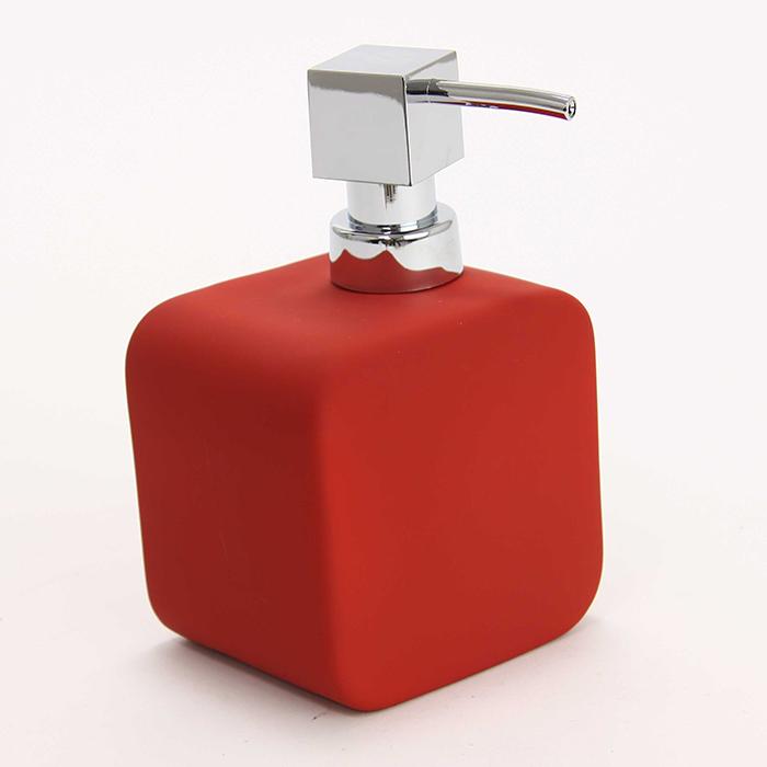 distributeur de savon rectangulaire rouge maison fut e. Black Bedroom Furniture Sets. Home Design Ideas