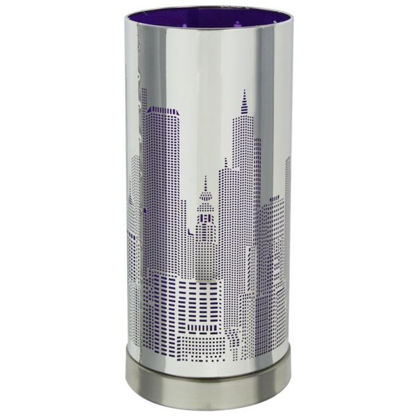 lampe touch new york avec variateur tactile de lumi re mod le violet maison fut e. Black Bedroom Furniture Sets. Home Design Ideas