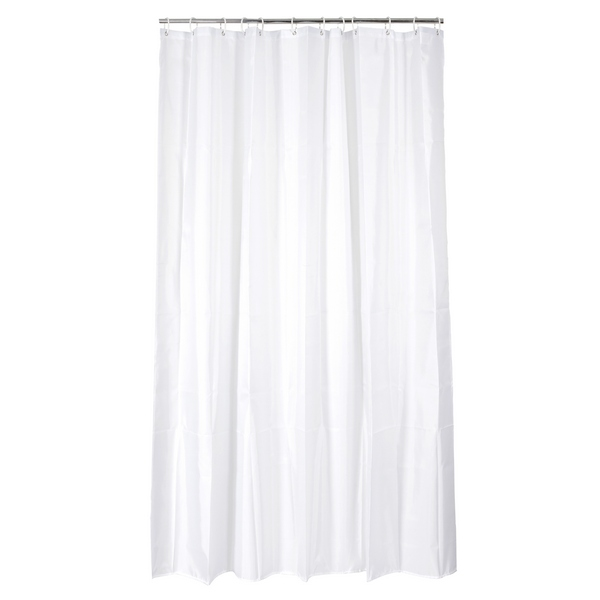 Rideau de douche soft touch 180 x 200 cm blanc maison for Fixation rideau de douche