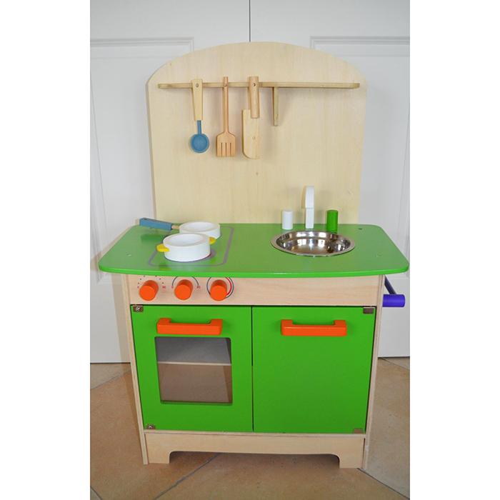 cuisine en bois 25 pi ces pour enfants maison fut e. Black Bedroom Furniture Sets. Home Design Ideas