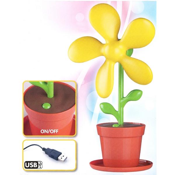 ventilateur de bureau usb pot de fleur rouge maison fut e. Black Bedroom Furniture Sets. Home Design Ideas