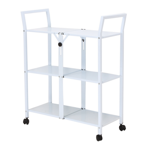 desserte m tal pliable roulettes blanc maison fut e. Black Bedroom Furniture Sets. Home Design Ideas