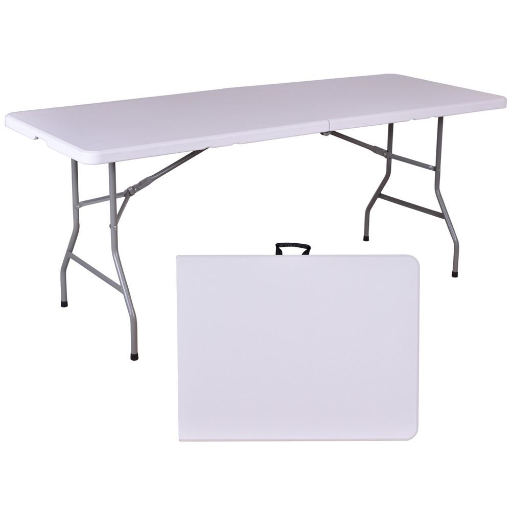 Table de jardin pliante en résine - 180 cm - Maison Futée