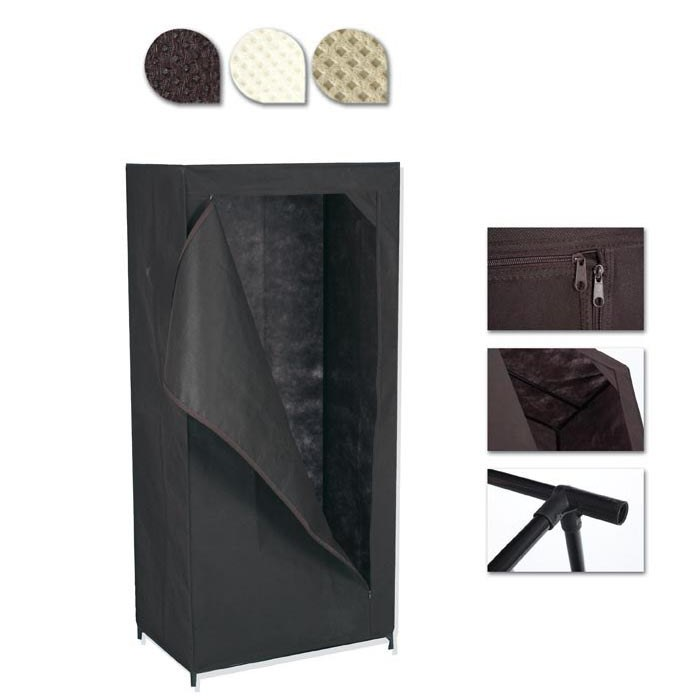 armoire penderie en toile non tiss e gris maison fut e. Black Bedroom Furniture Sets. Home Design Ideas