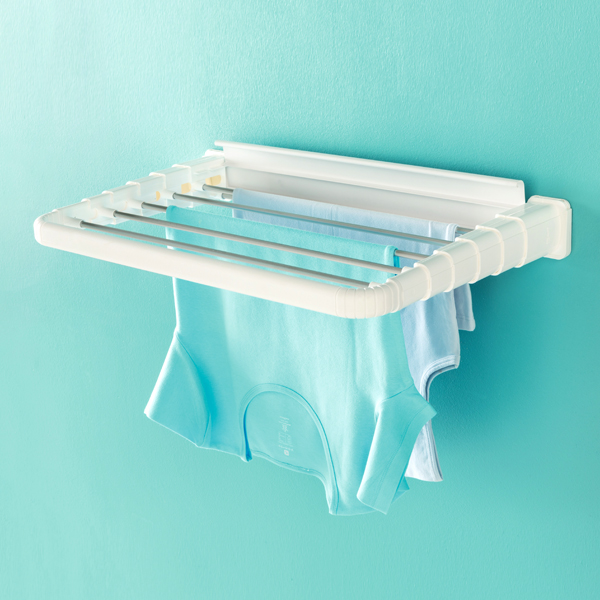 Etendoir avec portant v tements pour s chage rapide - Etendoir a linge mural retractable ...