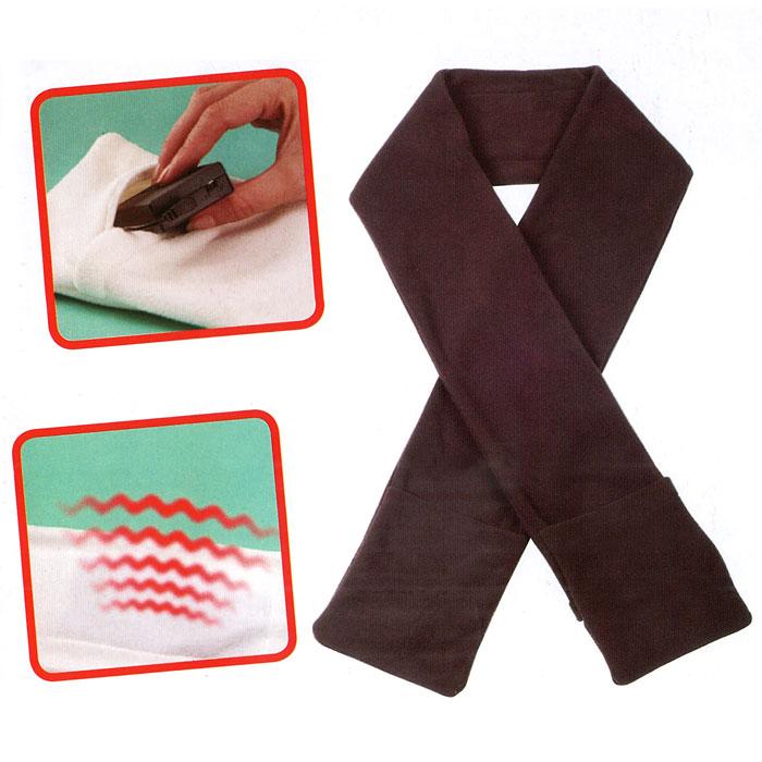 Echarpe chauffante à piles avec poches - Marron - Maison Futée a76899e4a4c
