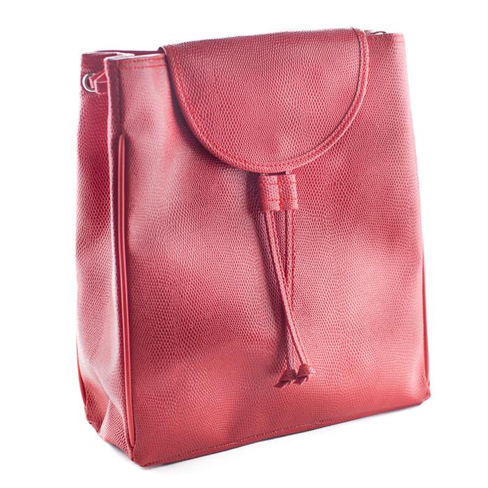 sac dos simili cuir rouge pour femme petit format maison fut e. Black Bedroom Furniture Sets. Home Design Ideas