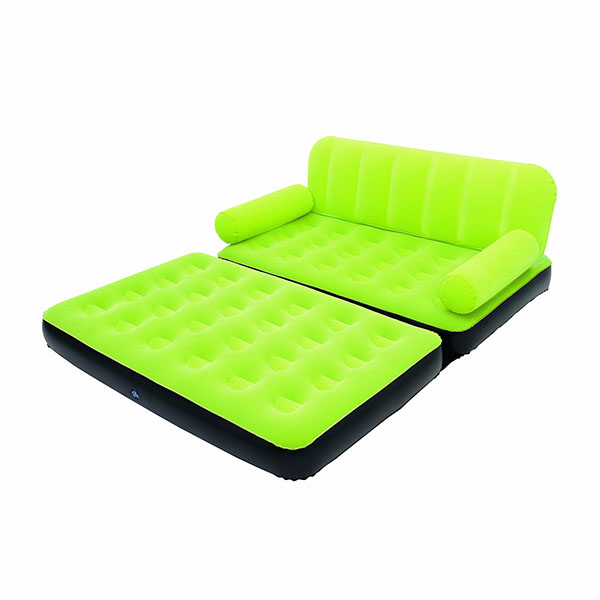 canap lit gonflable 4 en 1 vert pompe incluse maison fut e. Black Bedroom Furniture Sets. Home Design Ideas