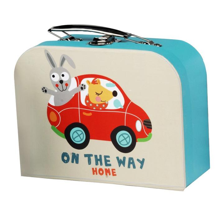 valisette de rangement en carton pour enfants mod le voiture maison fut e. Black Bedroom Furniture Sets. Home Design Ideas