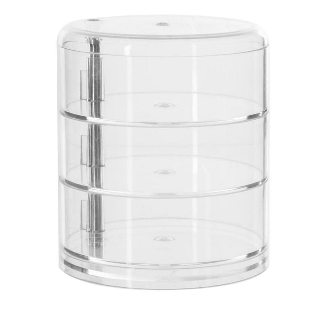 Boite de rangement ronde 3 compartiments - Maison Futée
