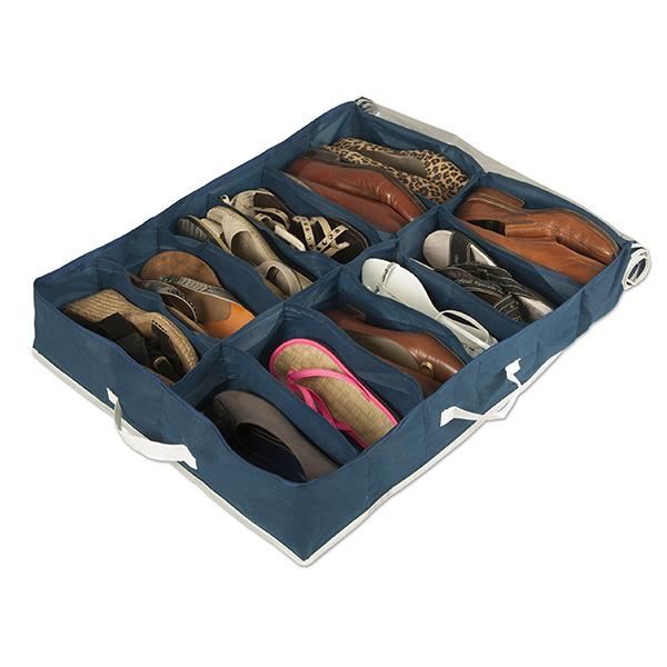 Organiseur de chaussures 12 paires maison fut e for Housse rangement chaussures