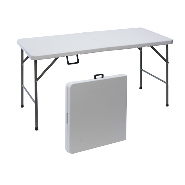 Table de jardin pliante en plastique 152 cm maison fut e - Table de salon pliante ...
