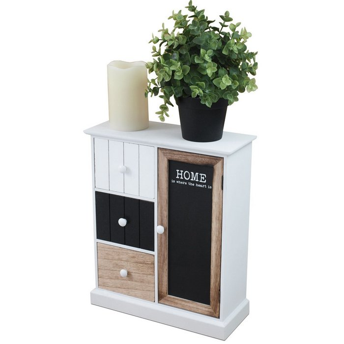 petit meuble de rangement 3 tiroirs 1 placard maison fut e. Black Bedroom Furniture Sets. Home Design Ideas