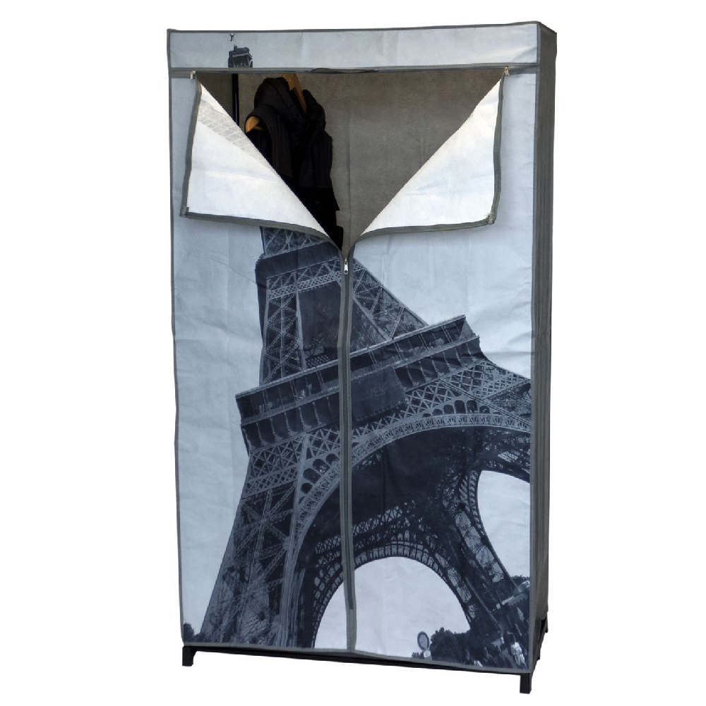 armoire penderie en toile paris tour eiffel maison fut e. Black Bedroom Furniture Sets. Home Design Ideas