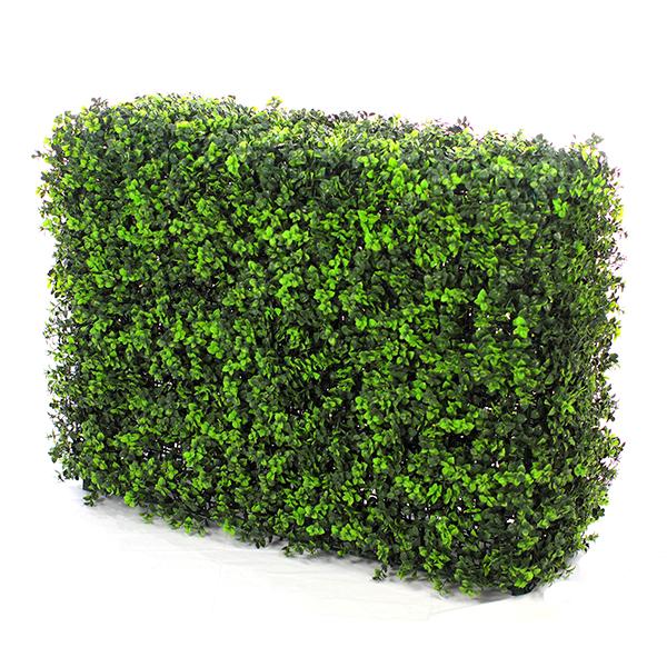 Muret de buis artificiel vert fonc vert clair for Buis pour haie