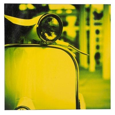 Tableau d coration vespa ann es 60 mod le jaune for Decoration maison annee 60