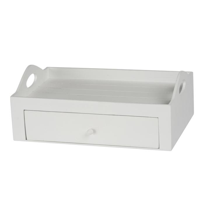 Plateau petit d jeuner avec tiroir de rangement maison fut e for Petit rangement tiroir