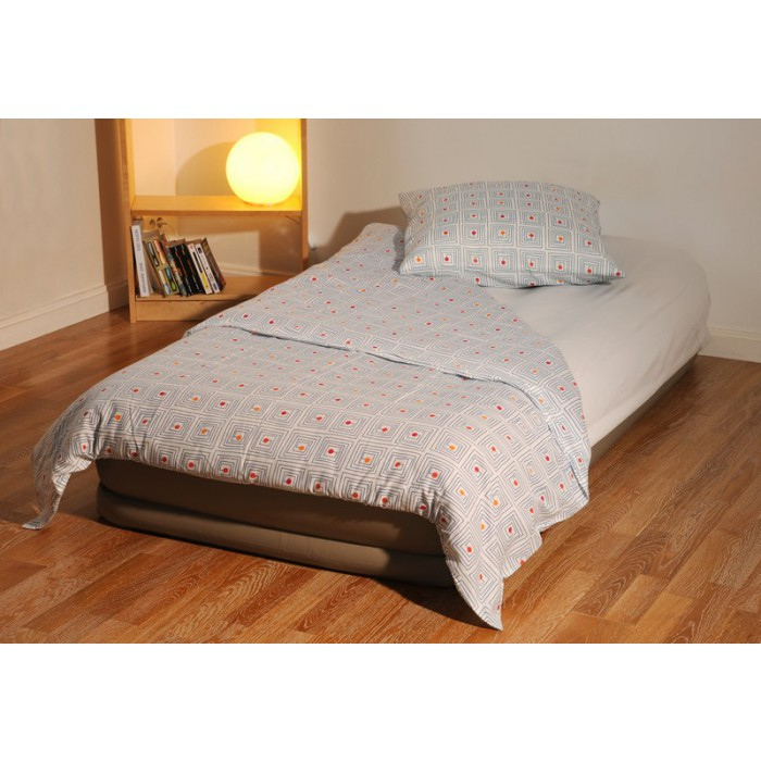 matelas gonflable 1 personne gonfleur inclus 99x191x35 cm maison fut e. Black Bedroom Furniture Sets. Home Design Ideas