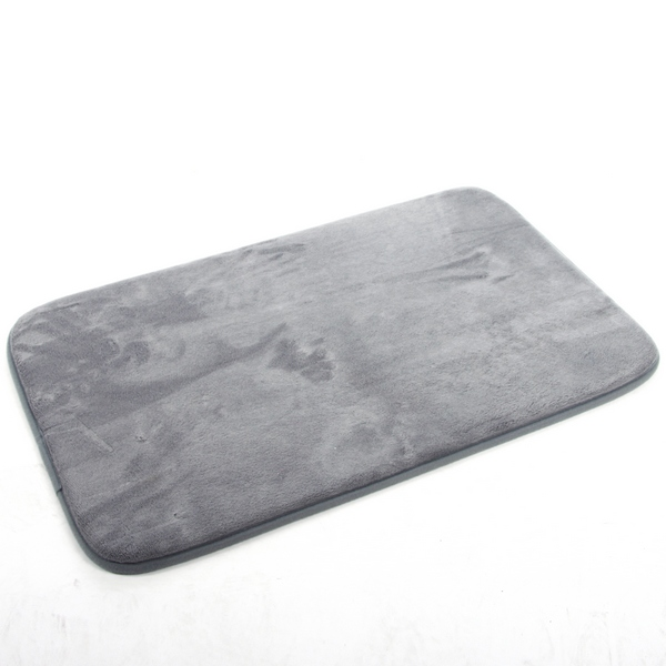 tapis de bain microfibre m moire de forme 80x50 cm gris maison fut e. Black Bedroom Furniture Sets. Home Design Ideas