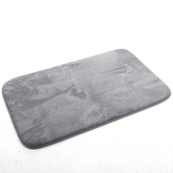 tapis de bain microfibre m moire de forme 80x50 cm gris maison fut e. Black Bedroom Furniture Sets. Home Design Ideas