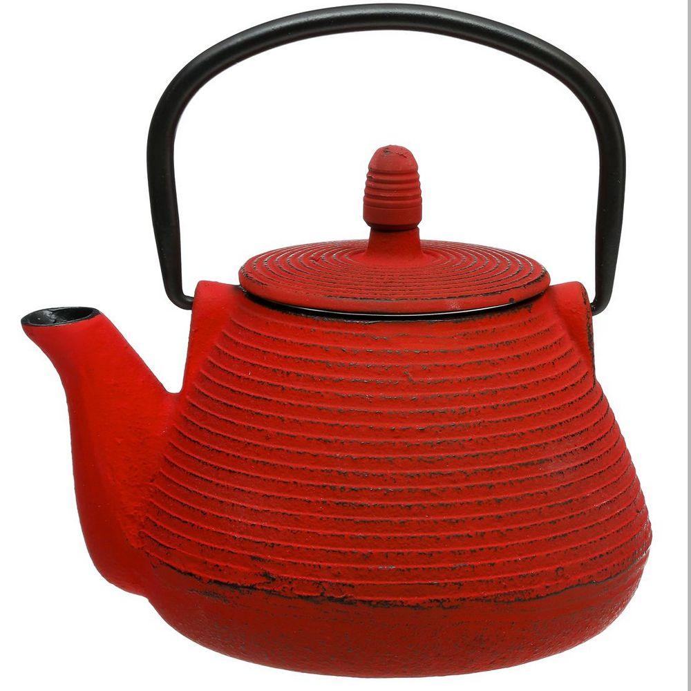 th i re rouge en fonte avec filtre inox maison fut e. Black Bedroom Furniture Sets. Home Design Ideas