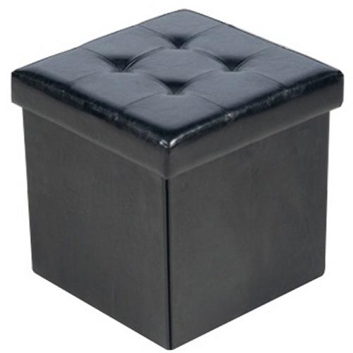 pouf de rangement pliable mod le noir maison fut e. Black Bedroom Furniture Sets. Home Design Ideas