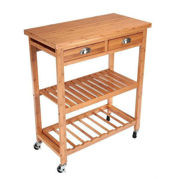 desserte de cuisine en bambou maison fut e. Black Bedroom Furniture Sets. Home Design Ideas