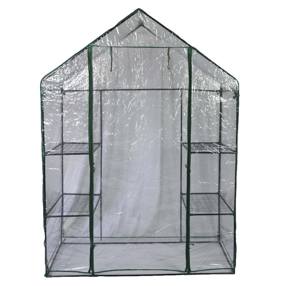 serre de jardin cadre m tal avec housse en pvc anti uv maison fut e. Black Bedroom Furniture Sets. Home Design Ideas
