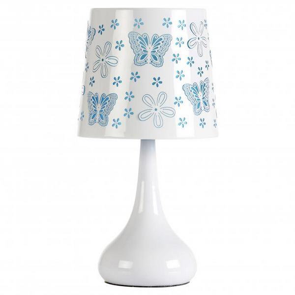 Lampe Touch 40w Papillons Bleu Maison Futee